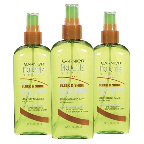 Garnier® Fructis Style® Sleek & Shine Flat Iron Perfector Straightening Mist - 3 Pack - 6 fl oz