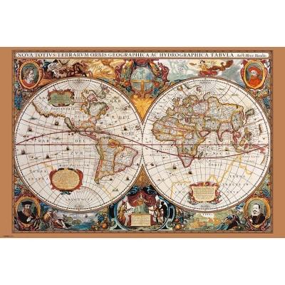 Art.com - 17th Century World Map Poster