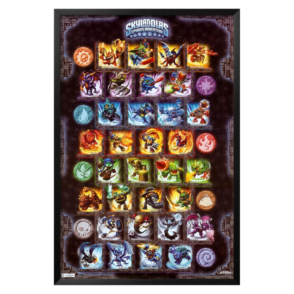 Art.com - Skylanders - Grid Framed Poster, Multi-Colored