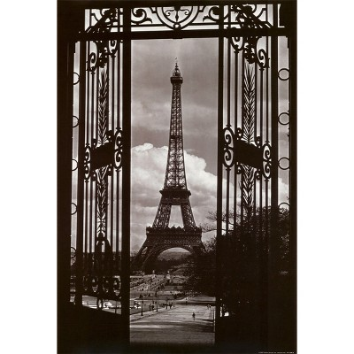 Art.com - Eiffel Tower Through Gates Poster