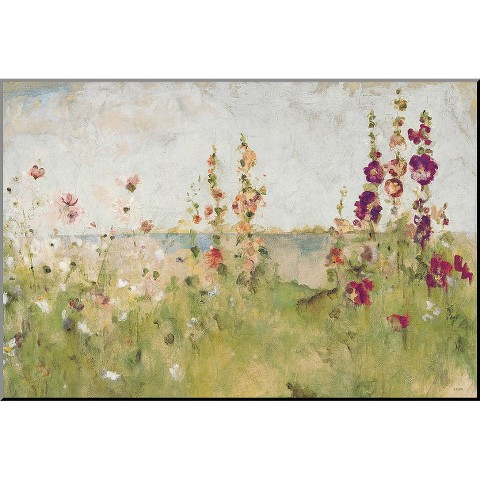 Art.com - Hollyhocks by the Sea