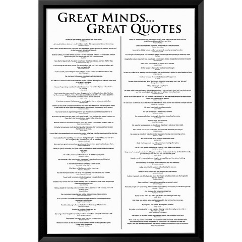 Art.com - Great Minds Great Quotes Framed Poster