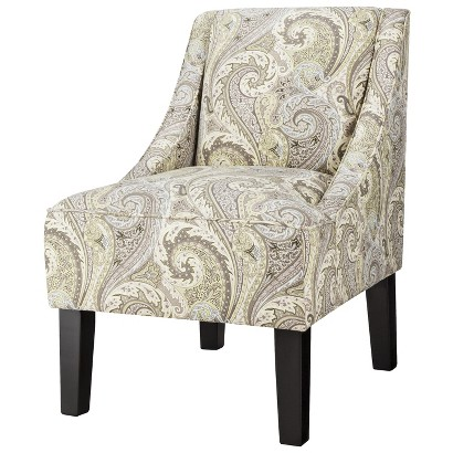 Hudson Swoop Chair - Green Paisley