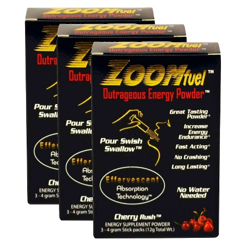 ZOOMfuel Cherry Energy Powder - 3 Pack