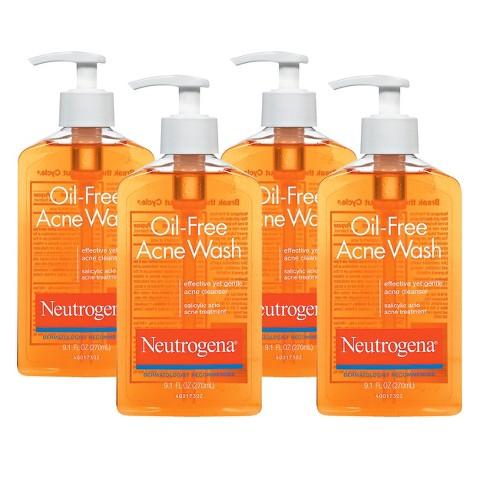 Neutrogena Oil Free Acne Wash - 4 Pack