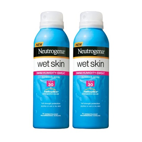 Neutrogena Wet Skin Sunblock Spray Set with SPF 30  - 2 Pack