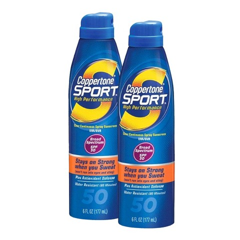 Coppertone Sport Sunscreen Spray Set with SPF 50  - 2 Pack