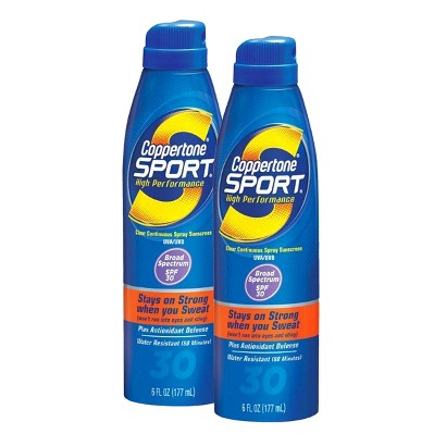 Coppertone Sport Sunscreen Spray Set with SPF 30  - 2 Pack