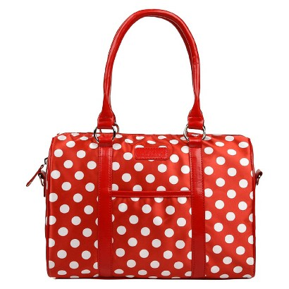 Sachi Red Insulated Fashion Lunch Tote