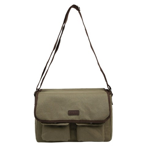 Sachi Olive Insulated Canvas Messenger Tote