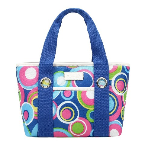 Sachi Blue Insulated Fashion Lunch Tote