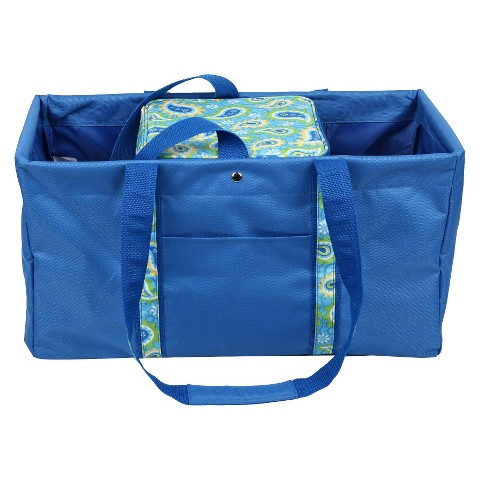 Sachi Blue Utility Tote with Insulated Cooler