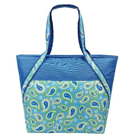 Sachi Blue Insul. Fashion Super Carry-All Tote