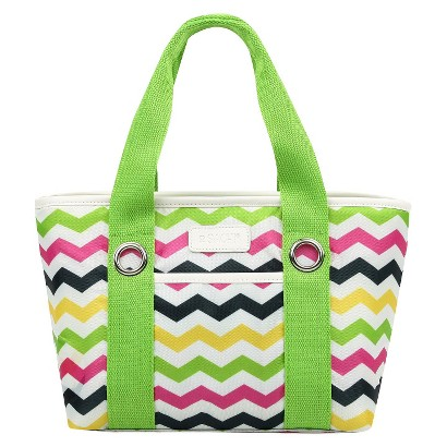Sachi Grn Insulated Fashion Lunch Tote