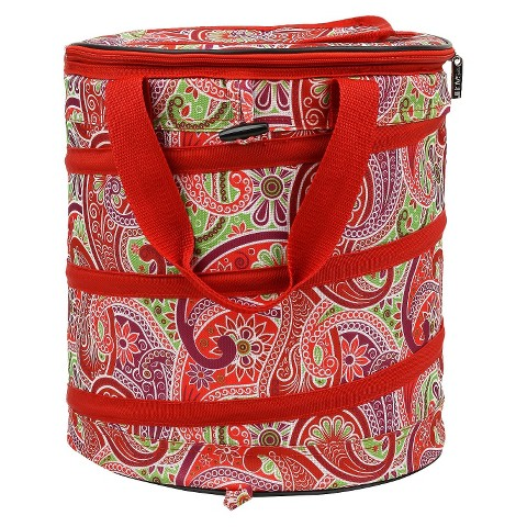 Sachi Red Insulated Fashion Pop Up Cooler
