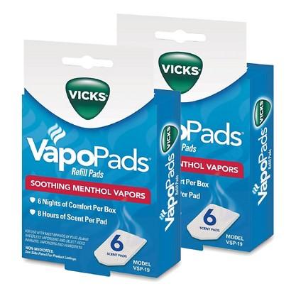 Vicks® Vapo Pads Soothing Menthol Vapors - 2 Count