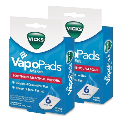 Vicks Vapo Pads Soothing Menthol Vapors - 2 Count