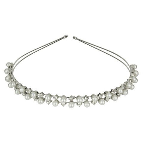 Pearls & Crystals Headband - Clear/White