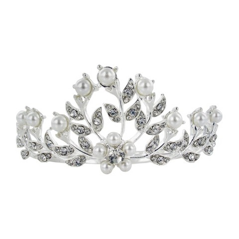 Pearls & Crystals Hair-Comb - Clear/White