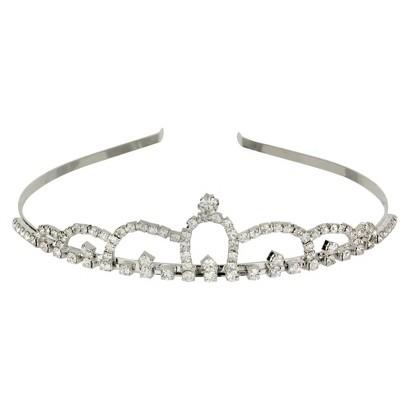 Crystal Round Tiara -Silver