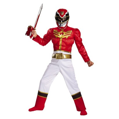 Boy's Power Rangers Red Ranger Megaforce Classic Muscle Costume