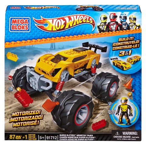 Mega Bloks Hot Wheels Super BlitzenTM Monster Truck- Yellow