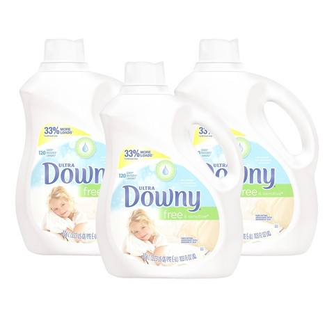 Ultra Downy Free & Sensitive Liquid Fabric Softener 103 oz, 3 pk