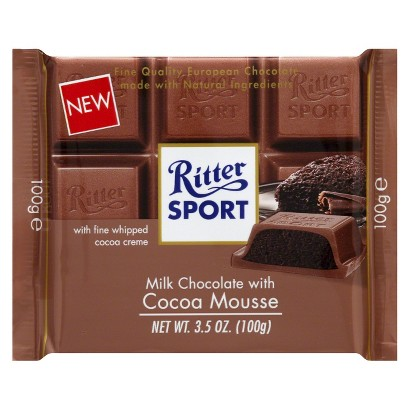 Ritter Sport Milk Chocolate with Cocoa Mousse 3.5 oz