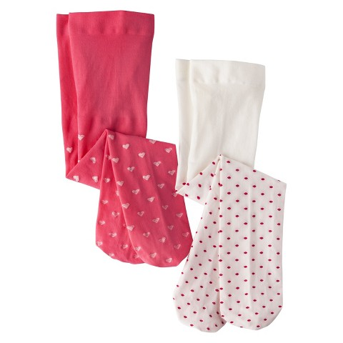 Cherokee® Infant Toddler Girls' 2 Pack Tights - Pink