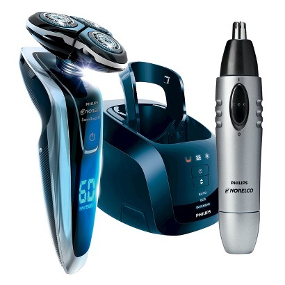 Philips Norelco 1280X/42 SensoTouch 3D Shaver and Bonus Philips Norelco NT8110/60 Nose & Ear Hair Trimmer