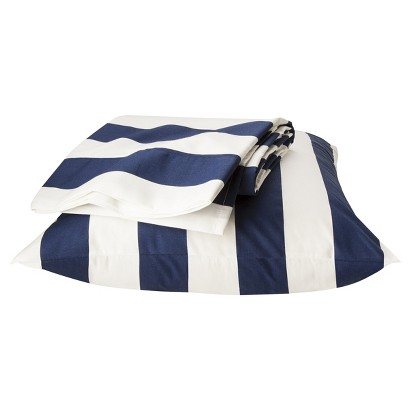 Circo® Rugby Stripe Sheet Set - Navy Blue/White