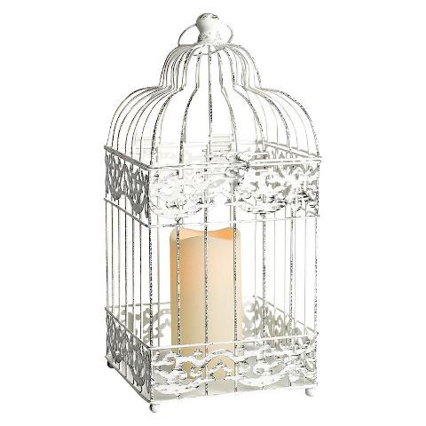 Birdcage Lantern - Black/White