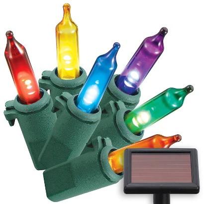 Philips 50ct Multi Solar LED Mini String Lights
