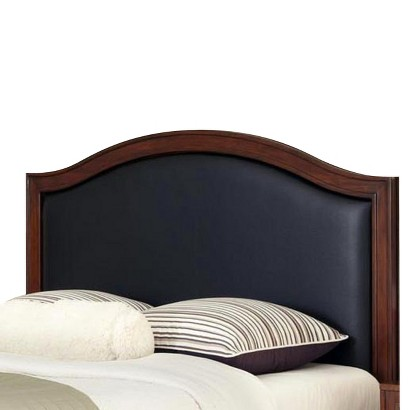 Home Styles Duet Leather Inset Headboard - Black (King)
