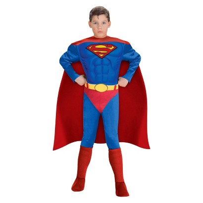Image of Boy's Superman Justice League Muscle Chest Costume - Target Exclusive