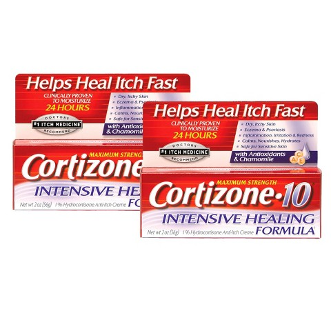 Cortizone 10® Intensive Healing Anti-Itch Crème - 2 Count (2 oz each)
