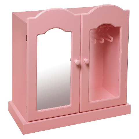 Badger Basket Mirrored Doll Armoire - Pink