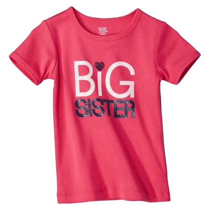 JUST ONE YOU® Made by Carters Infant Toddler Girls' Big Sister Tee - Pink
