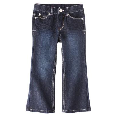 Cherokee® Infant Toddler Girls' Denim Jeans - Dark Blue