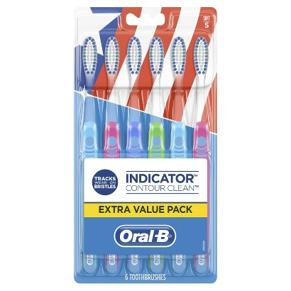 ORAL B® Indicator Contour Clean™ Toothbrush - 6 Count