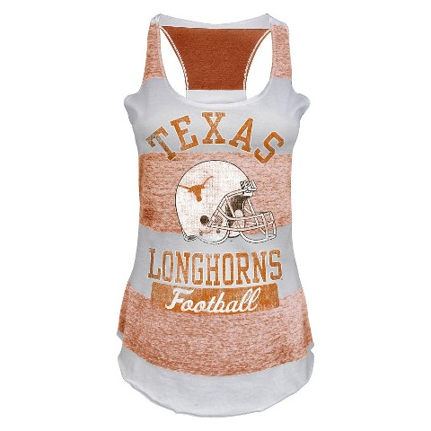 Texas Longhorns Juniors Tank White