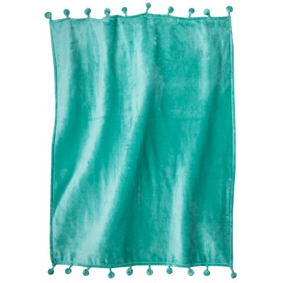 Xhilaration™ Pom Pom Throw with Tassel - Turquoise