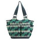 timi & leslie Emerald Lagoon Tag-a-long Tote Diaper Bag with Changing Pad