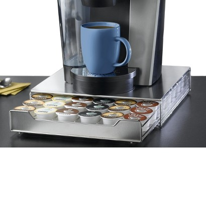 Nifty 36 Capacity Under-the-Brewer Drawer for K-Cup® - Stainless Steel