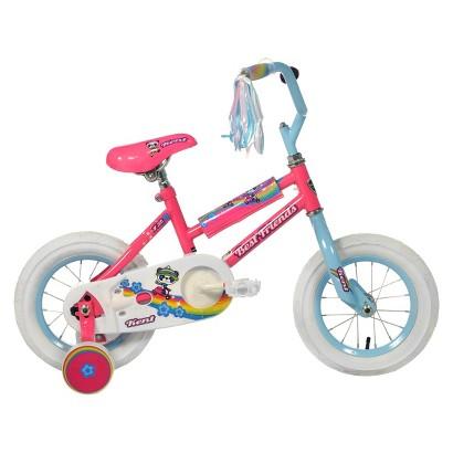 "Kent Girls Best Friends Panda Bike   Pink (12"")"