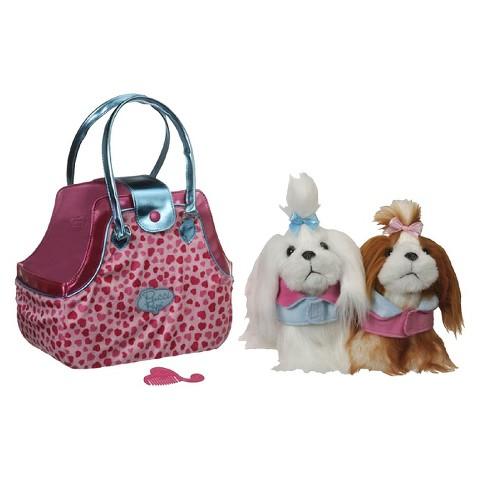 Pucci Pups Pink Mini Hearts Twin Bag and Pups