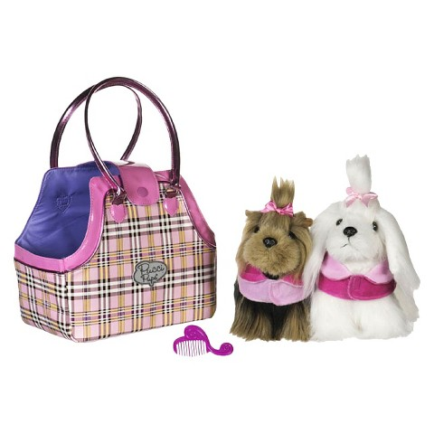 Pucci Pups Pretty Plaid Twin Bag and Pups