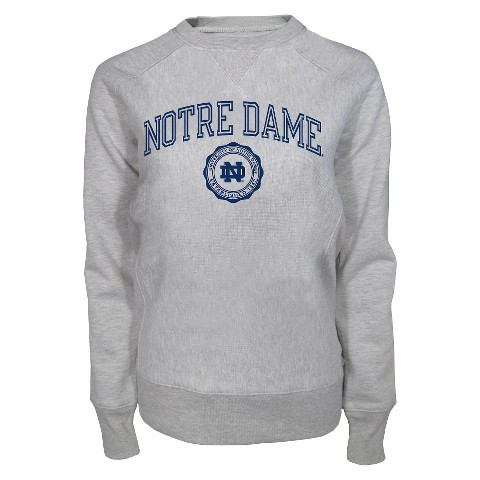 Notre Dame Fighting Irish Ladies Sweatshirt in Grey