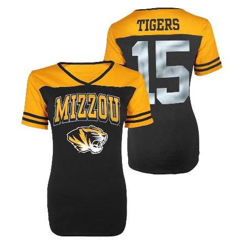 Juniors' Missouri Tigers V-Neck Shirt - Black