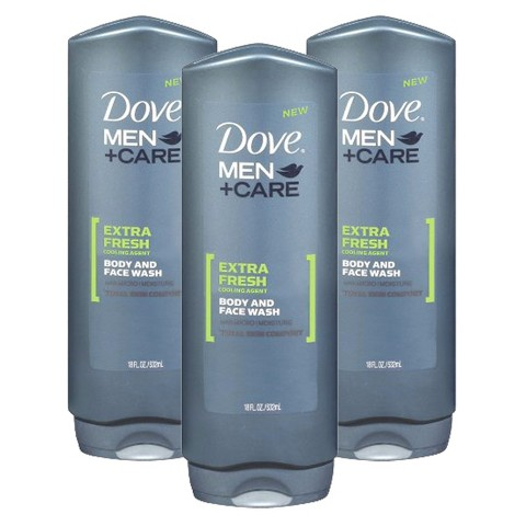 Dove Men Extra Fresh Body Wash Set - 3 Pack